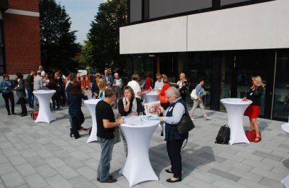 Ankommen der ersten TeilnehmerInnen