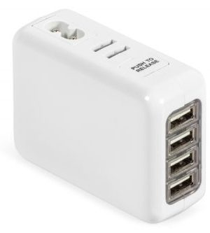Hubspot International Usb Charging Adaptor - Avail in: White