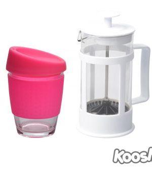 Kooshty Single Koffee Set White Press - Avail in: White