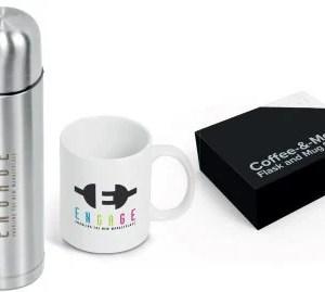 Coffee-&-Me Flask and Ceramic Mug Set