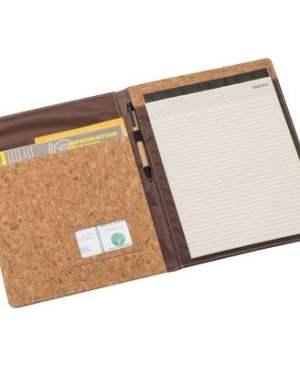 A4 cork material folder