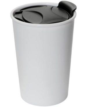 400ml plastic mug with lid.