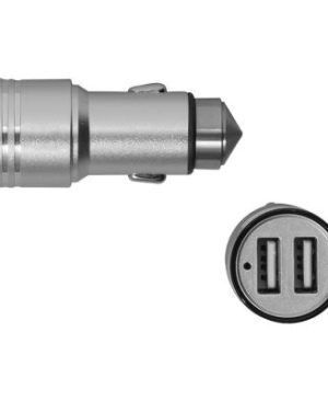 Dual USB Car Charger with Glass Breaker