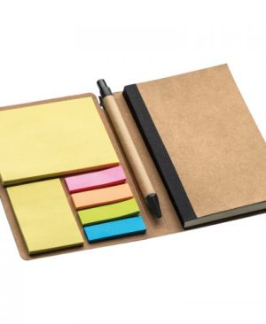 A6 PU notebook with sticky notes