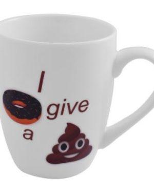 Emoji Oval Cone Mug - I don't give a Poop