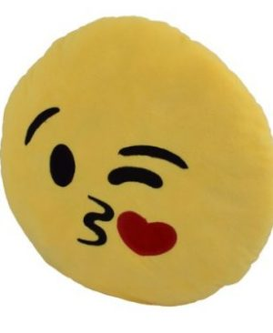 Emoji 40cm Cushion - Kiss