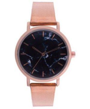 Ash Black Wrist watch - Rosegold Mesh