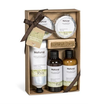 Ryis Bath Gift Set - Peppermint & Rosemary OR Jasmine & Orange
