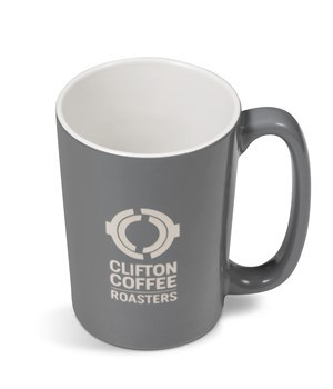 Sorrento Laser-ready Ceramic Coffee Mug - Dark Grey