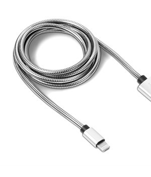 ExecuCharge 2-in-1 Connector Cable - Silver