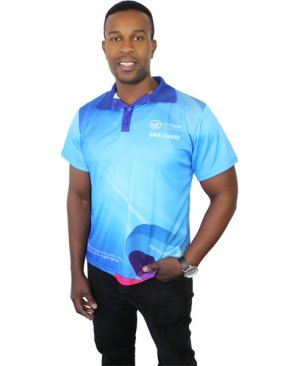Madison Golf Shirt - Can take a full colour print(Avail in mens or ladies cuts)