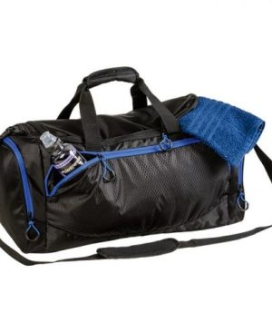 Sports Bag With Curved Contrast Zip