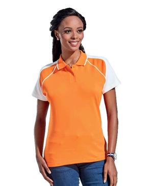 Barron Ladies Vector Golfer - Avail in: Black/Red