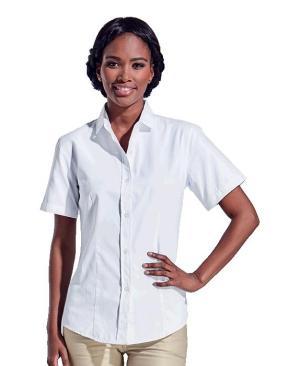 Barron Ladies Clayton Blouse Shirt Short Sleeve - Avail in: Navy