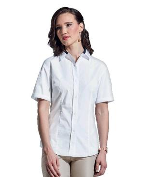 Barron Ladies Dallas Lounge Shirt Short Sleeve - Avail in: Navy/White or White/Navy