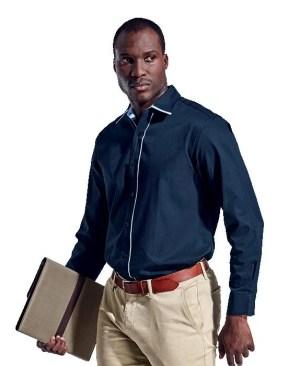 Barron Cleveland Lounge Shirt Long Sleeve - Avail in: Navy/Sky or Sky/Navy