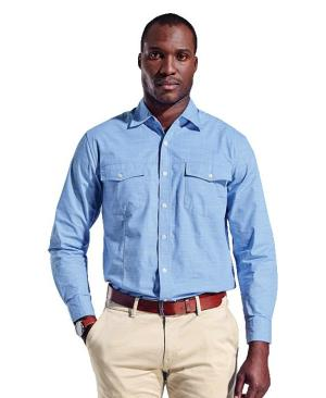 Barron Mens Houston Lounge Shirt - Avail in: Black or Sky Blue