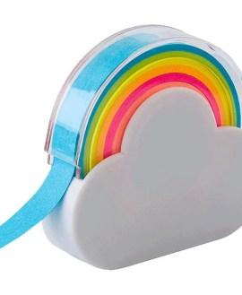 Rainbow Memo Tape Dispenser  - Avail in: White