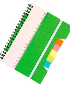 A5 Notebook With Sticky Notes And Ruler - Avail in: Light Blue