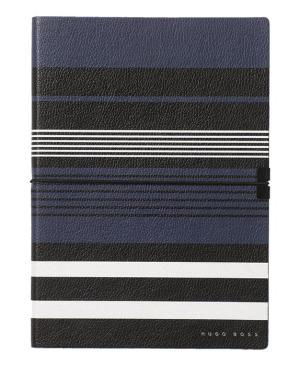 Hugo Boss Note Pad A5 Storyline Stripes - Avail in: Blue