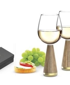 Afrique Wine Glasses with Acacia stem - 2 per Set