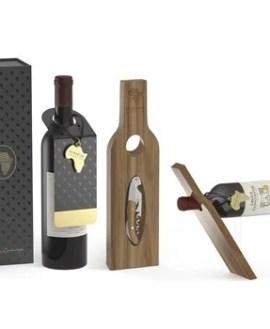 Afrique Wine & Holder Set - Wood