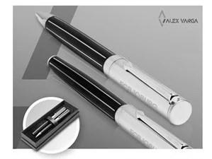 Alex Varga Pandora Ball Pen & Rollerball Set-Black