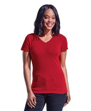 Barron Ladies Slub V Neck T-Shirt - Avail in: Black