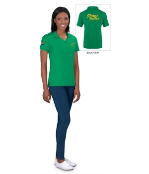 Springbok Ladies Golf Shirt - Available in: Black