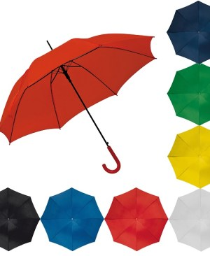 Automatic umbrella with plastic colour matching hook handle