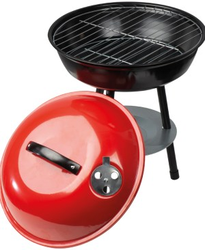 Mini mobile kettle braai with lid