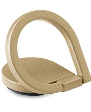 Phone holder with ring in matt zinc alloy