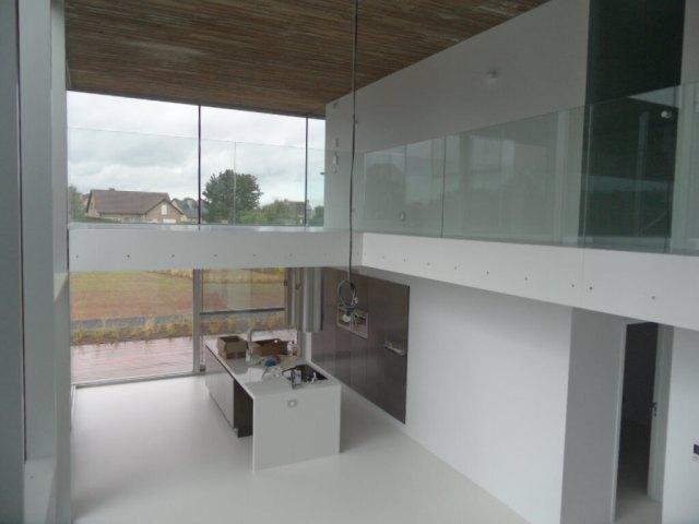Pglas - Glazen balustrade trapleuning stalen glasklem helder glas 009