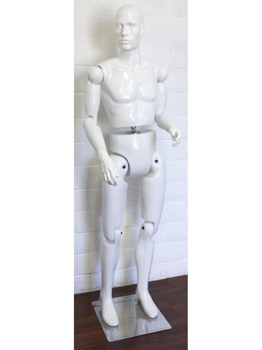 male movable mannequin adjustable