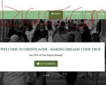 Greenlager - Another Paying Scheme with 100% Investment Return