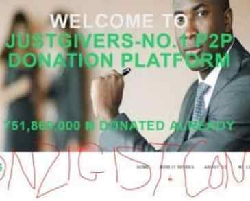 JUSTGIVERS - Just Launch 100% of your Donation, Register and Login