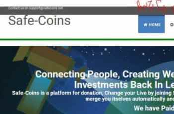 SafeCoins.net - Earn 100% Return of Your Investment