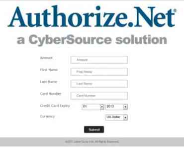 Authorize.net Payment Gateway - Accept Payment Anywhere