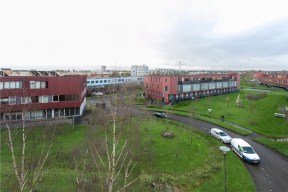 A view to the south from the 3rd floor. Antennas will be +5 meter? You can see the city of Amersfoort.