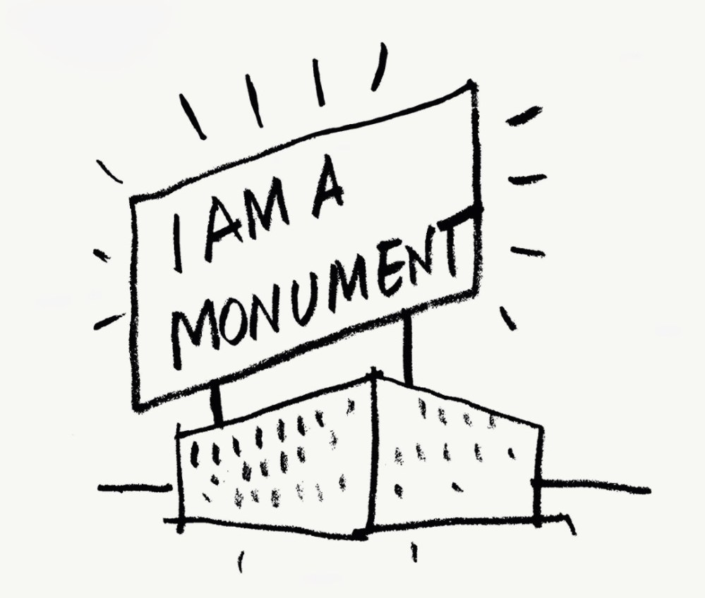 medium resolution of robert venturi and denise scott brown i am a monument 1972 ink on