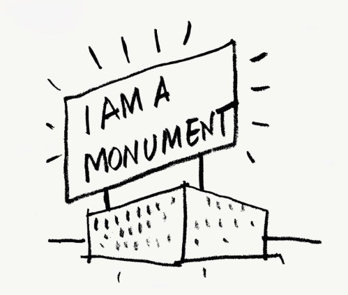 small resolution of robert venturi and denise scott brown i am a monument 1972 ink on