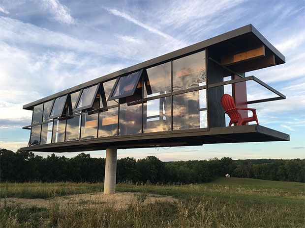 A Modernist house that spins in the wind  Architecture