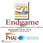 Accelerating Tobacco Endgame Strategies in the United States: September 19-20 in Boston