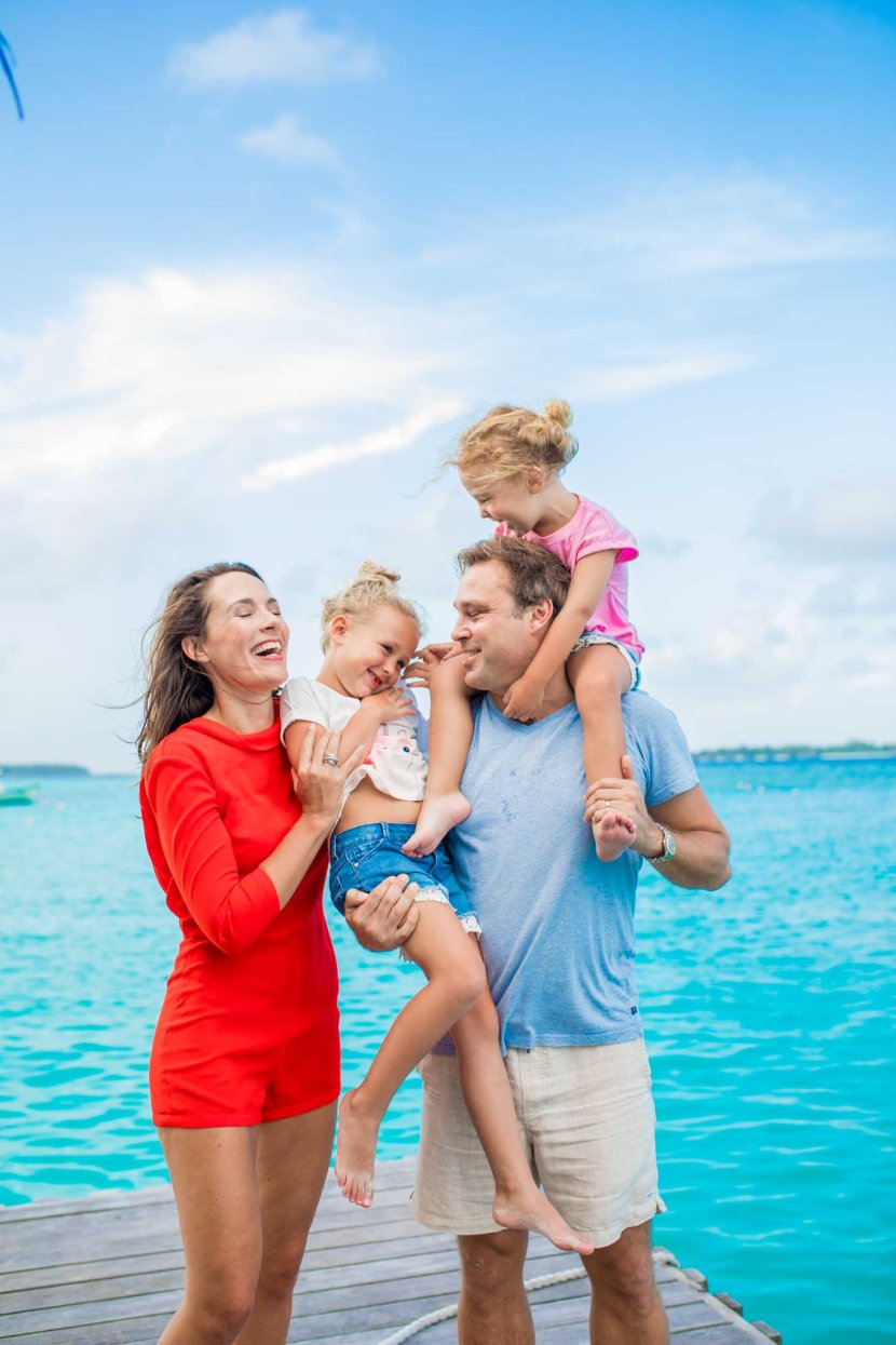 family photo session in Maldives