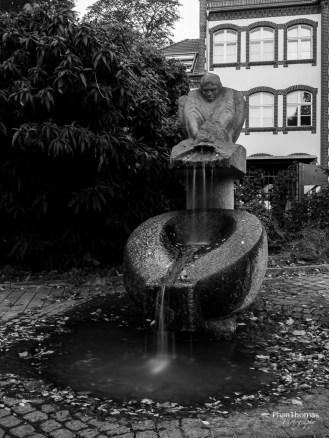 Altstadt Köpenick: Langzeitbelichtung eines Brunnens