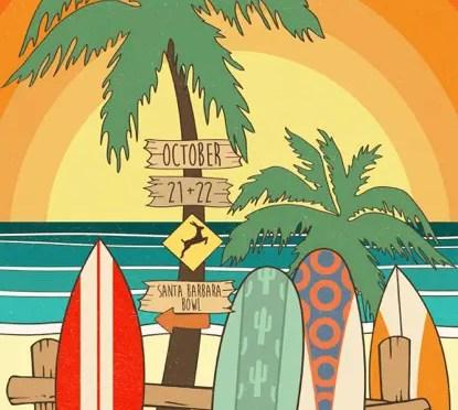 Santa Barbara Poster From Maria DiChiappari