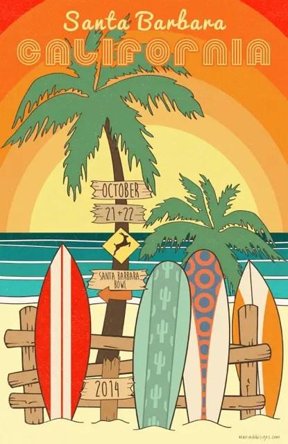 Phish Santa Barbara Poster Final