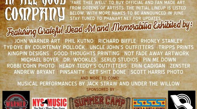 """Here is the Final Lineup of Artists for """"In All Good Company"""""""