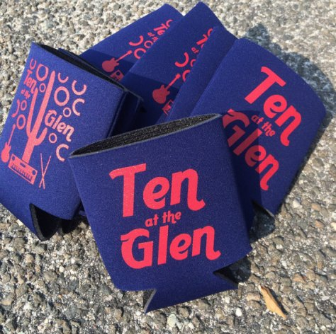 ten at the glen koozies