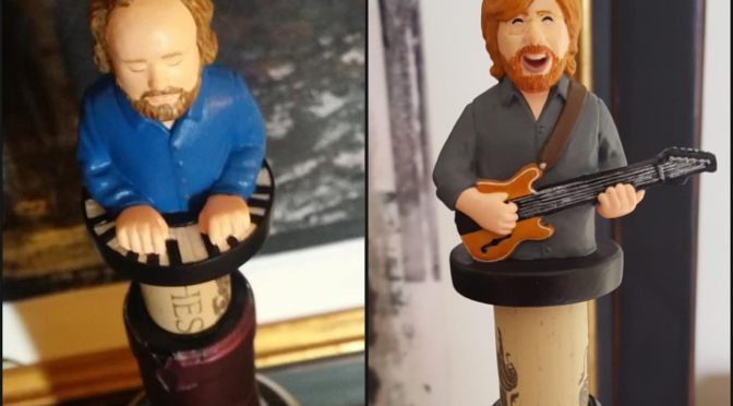 Handpainted Page and Trey Wine Stoppers
